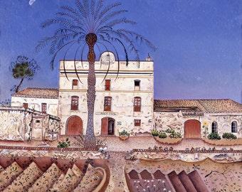 La Casa de la Palmera by Joan Miro, in various sizes, Giclee Canvas Print