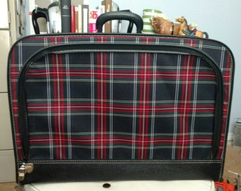 Vintage Plaid Luggage