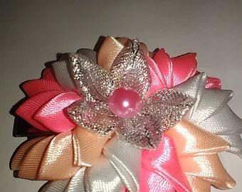 Decoration of satin ribbons. Kanzashi, DIY