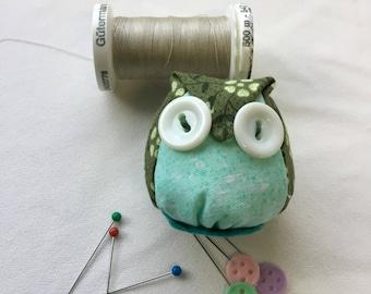 Cute handmade owl miniature pincushion