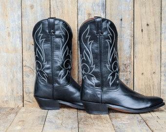 Laredo boot 11 Laredo boot 44 black Laredo boot Us 11 western boot Us 11 cowboy boot 11 cuban heel boot USA Western Boot