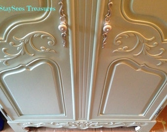 SOLD: Sea Glass Coastal French Armoire