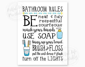 Bathroom printable | Etsy