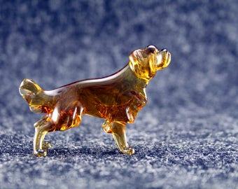 Color Glass Labrador retriever Figurine.Dog Figurine Glass.Figure miniature.glass lampwork.glass dog sculpture.dog figurine.(x75)