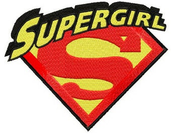 Supergirl Embroidered Iron On Patch