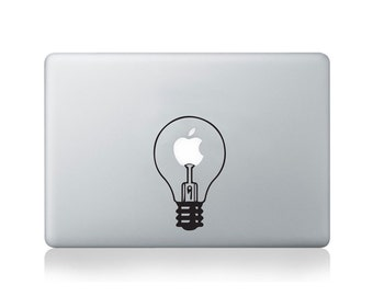 Light Bulb Vinyl Decal for Macbook (13/15) or Laptop