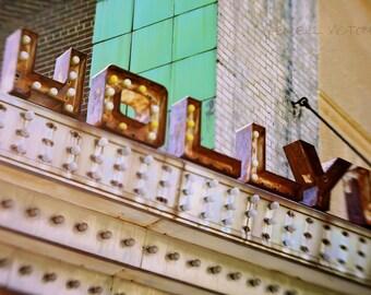 Hollywood Theatre Marquis in Northeast Minneapolis Fine Art Print
