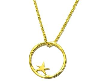 Nova small ajustable necklace. Fine golded bronze.