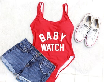 Baby Watch Suit. Baby Watch Swimsuit. Mom Swimsuit. One Piece Bathing Suit. One Piece Swimsuit. Swimsuit women. Pregnancy announcement.