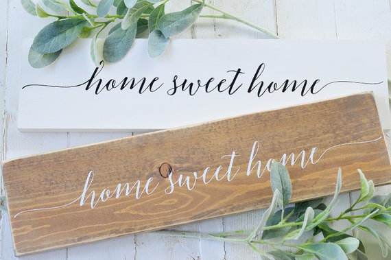 S A L E : Home Sweet Home, Wood Sign, Rustic, Farmhouse, Home Decor, Home and Living, Framed