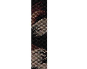 BPBW0002 Even Count Single Drop Peyote Cuff/Bracelet Pattern