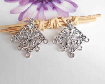 4 pendant chandelier silver 35 x 32 mm