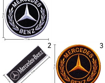 Mercedes Benz Embroidered Iron On Patch