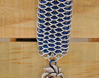 Dragonscale Weave Chainmaille Bracelet Cuff