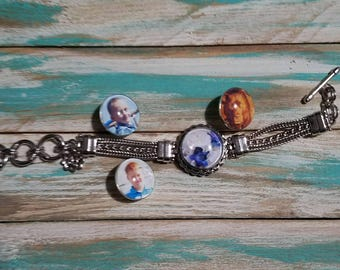 Photo snap jewelry, photo snap charms, personalized snap charms, custom photo snap gift, in memory photo snap charms, bracelett snap photos