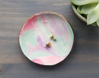 Tulip Tone Marbled Ring Dish