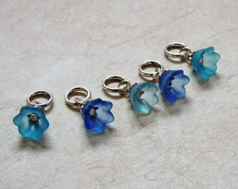 Bluebell stitch marker set of 5 Spring Flowers