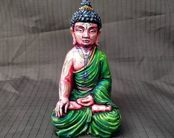 Painted seated figure