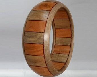 Bracelet wood cherry - Walnut