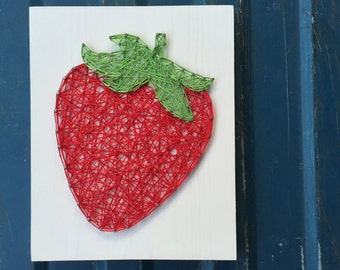 MADE TO ORDER String Art Strawberry Sign