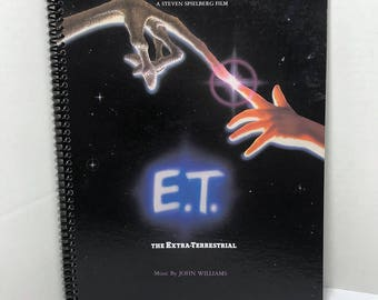 E.T. Album Cover Notebook Handmade Spiral Journal - The Extra Terrestrial