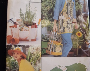Butterick 4364, Gardening Gloves, Apron, Bag, and Hat Sewing Pattern