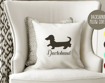 Personalized Dachshund Pillow Cover