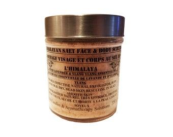 Lavender + Ylang Ylang  Essential oil: Face & Body Scrub with Himalayan salt and sugar