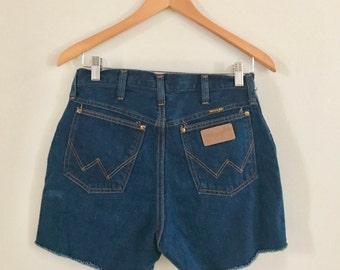 Vintage 80's wrangler jeans cut off shorts, wrangler cut offs, wrangler jean shorts, vintage Wrangler jeans
