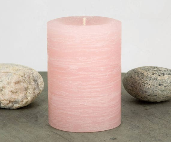 Blush Pink Candle Pale Dogwood Shade Various Sizes
