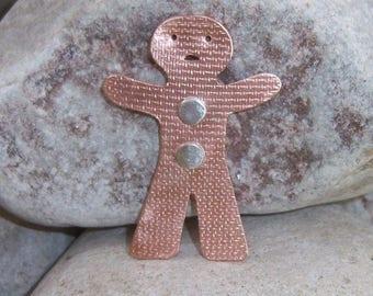 Gingerbread man - gingerbreadman - gingerbread man brooch - gingerbread jewellery - fairy tale - gingerbread pendant - Christmas - Xmas
