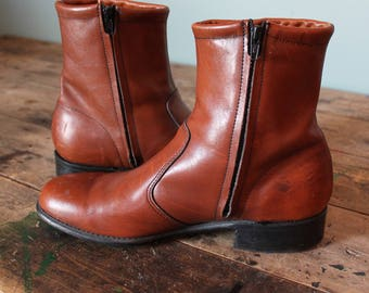 Vintage 60's Chelsea Boots   Western Dress   Size 9.5   Made in USA