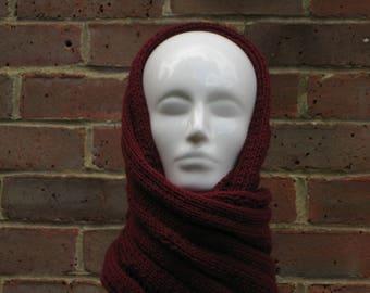 Gorgeous burgundy cowl scarf