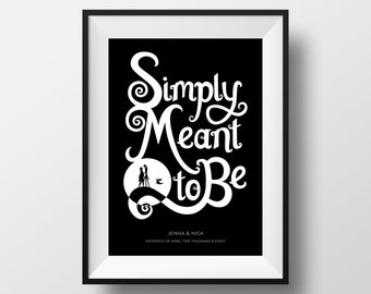 Custom Simply Meant to Be | Nightmare Before Christmas Giclee