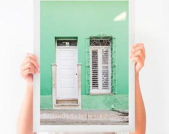 Door Photography, Door in Havana Cuba, Printable Photography, Printable Poster, Instant Download, Printable Art, Digital Download, Cuba Art