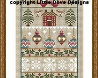 Merry Christmas Cross Stitch Sampler PDF Chart INSTANT DOWNLOAD