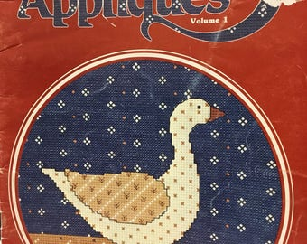 Designs by Gloria and Pat, Country Appliques counted cross stitch pattern book