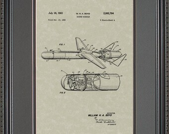 Guided Missle Patent Art Military Contractor Gift B2794