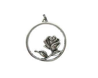 Rose pendant for chains 34 mm
