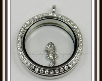 Seahorse Floating Charm for Glass Locket / Floating Locket / Memory Locket