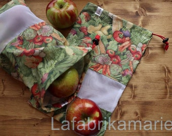 food bags for fruits and vegetables, food bags for fruits and vegetables, washable, reusable, washable, reusable, zero waste, wash your zero