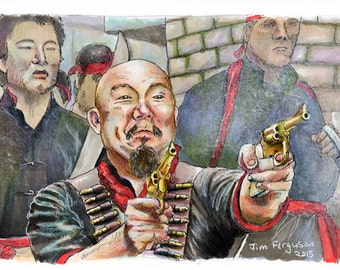 Big Trouble in Little China - Golden Guns Print