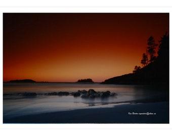 Sunrise at Middle Beach, Tofino, British Columbia