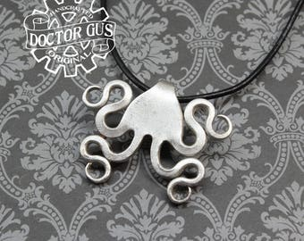 Medusa Fork Pendant - Handcrafted Silverware Jewelry Creations from Doctor Gus - Made from Forks - Steampunk Boho Goth Style Necklace