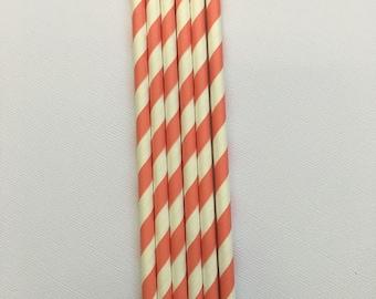 Coral Straws ~ Chevron Straws ~ Striped Straws ~ Wedding Straws ~ Cake Pop Sticks