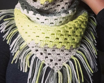 Triangle Scarf with Fringe