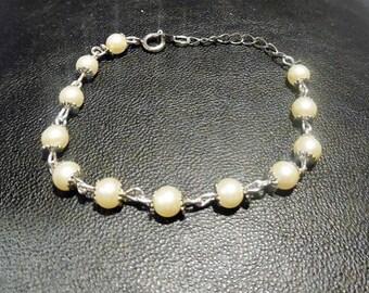 Bracelet perles chaîne