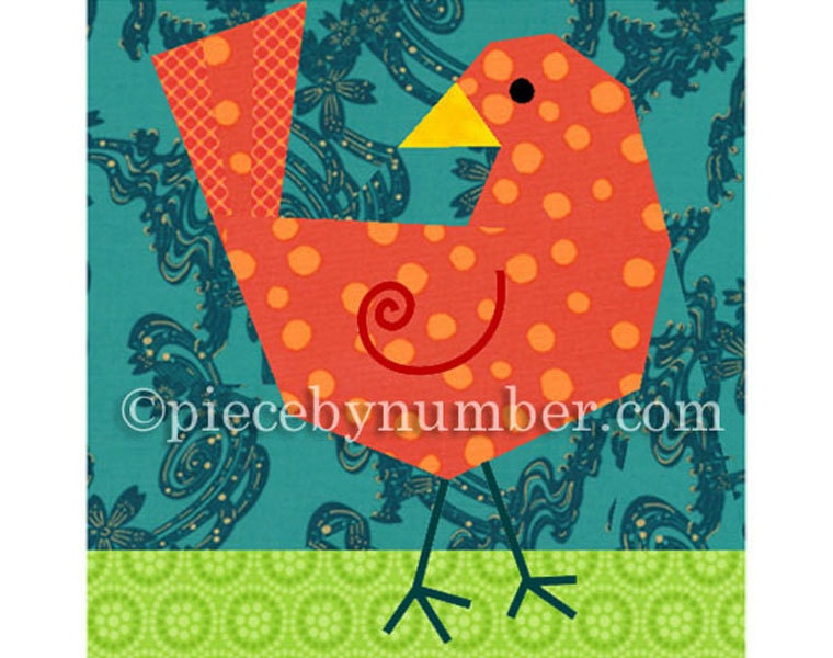 Birdie Bird quilt block paper pieced quilt patterns instant : bird quilt pattern - Adamdwight.com
