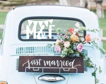 wedding car decal