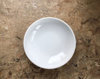 "White Ceramic Dish for Painting or Vinyl Porcelain Bowl 3.75"" Set of 4 Supplies"